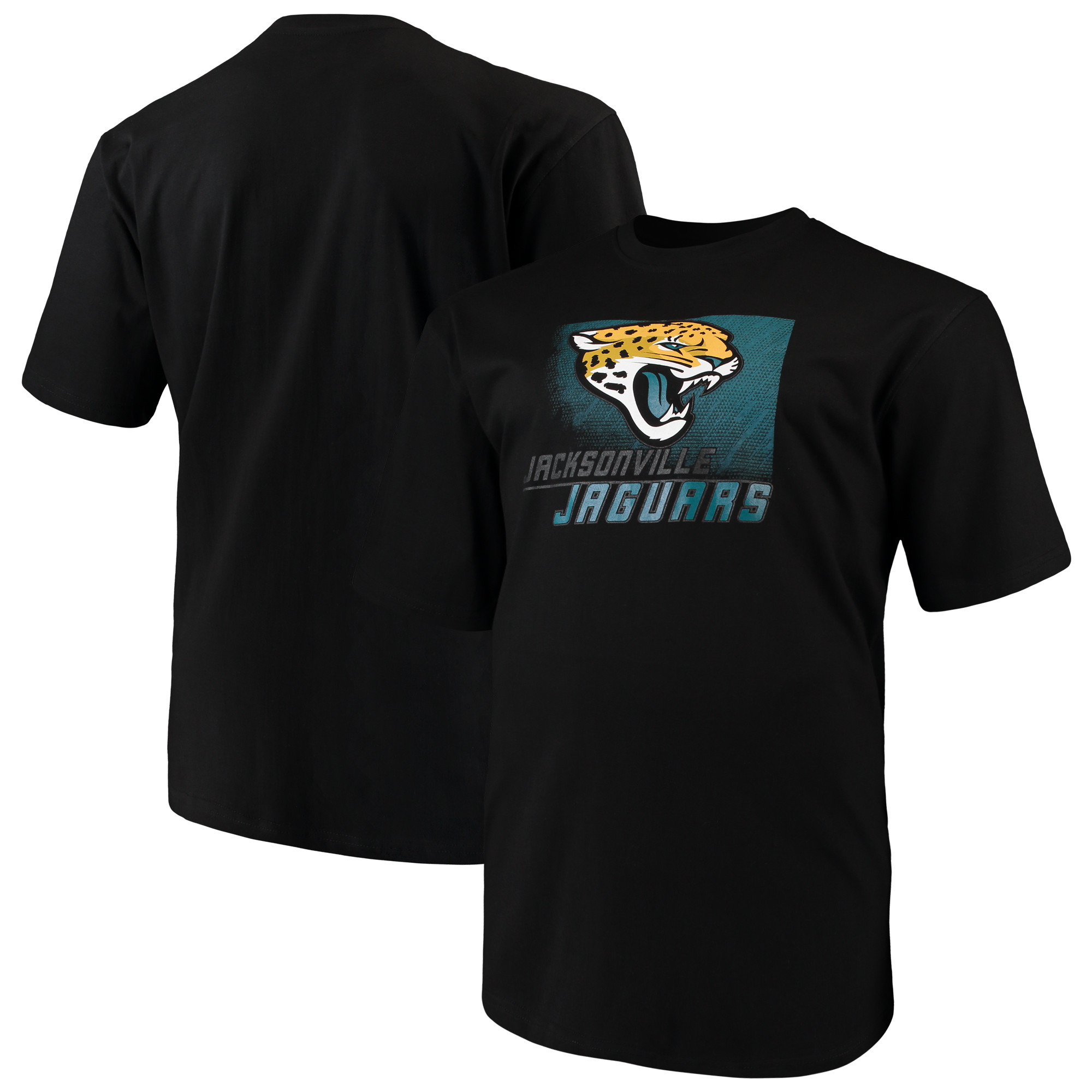 Men's Majestic Black Jacksonville Jaguars Big & Tall Reflective T-Shirt