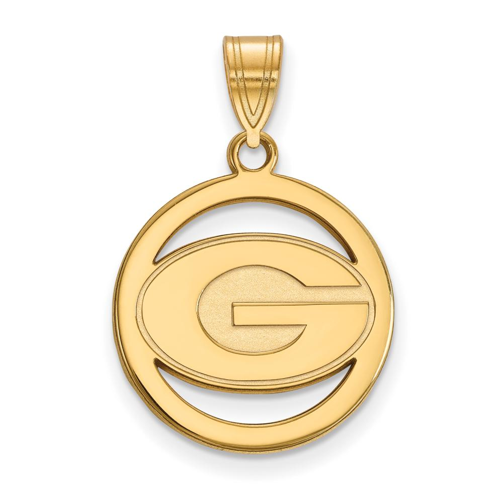 Georgia Small (1/2 Inch) Pendant in Circle (Gold Plated)