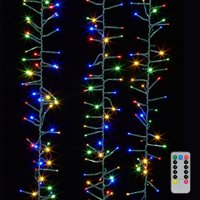 Raz Imports 05866 - 600 Light 19.6' Green Wire Multi-Color LED Micro Miniature Christmas Light String Set with Timer and Remote