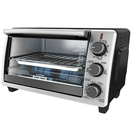 BLACK+DECKER TO1950SBD 6-Slice Convection Countertop Toaster Oven, Includes Bake Pan,