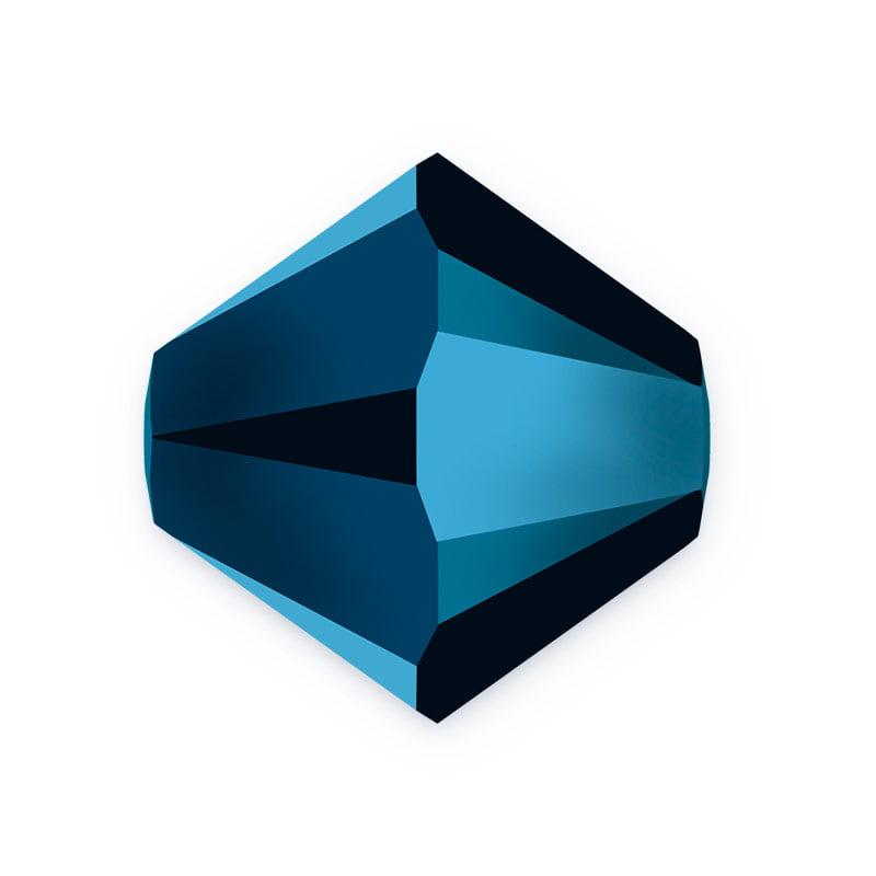 Swarovski Crystal Bicone Beads 5328 4mm Crystal Metallic Blue 2X (Package of 10)