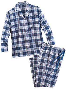 Red Plaid Flannel Pajama Set - Comfortable Lounge Outfit and Gift Idea for Men
