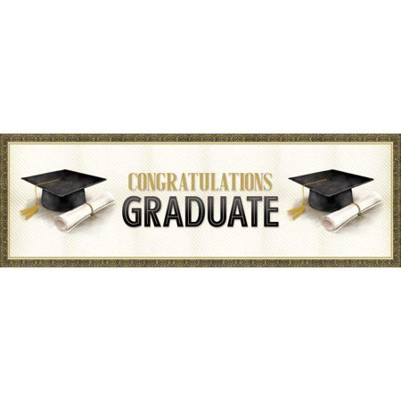 Creative Converting Classic Graduation Giant Party - Banner Graduation