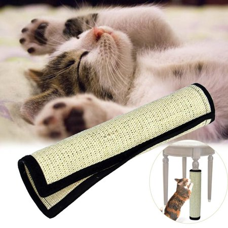 Ymiko Pet Cat Scratcher Scratch Pad Curred Cat Scratcher Natural Sisal Cat Scratching Board