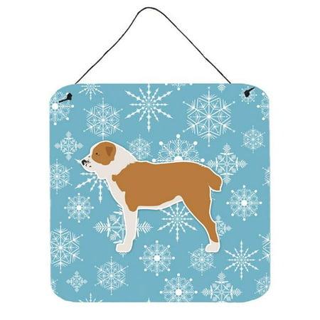 Carolines Treasures BB3528DS66 Winter Snowflake Central Asian Shepherd Dog Wall or Door Hanging Prints - image 1 of 1