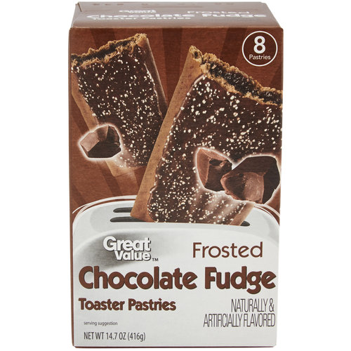 Great Value Frosted Chocolate Fudge Toaster Pastries, 14.6 oz