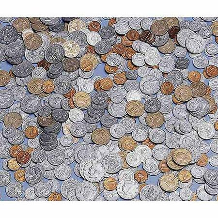 School Smart Assorted Plastic Coins, Set of 460