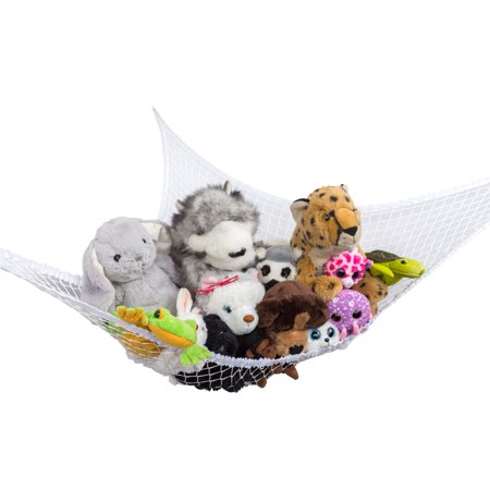 Giant Stuffed Animal Toy Hammock Organizer - Stuffed Animal Pigs