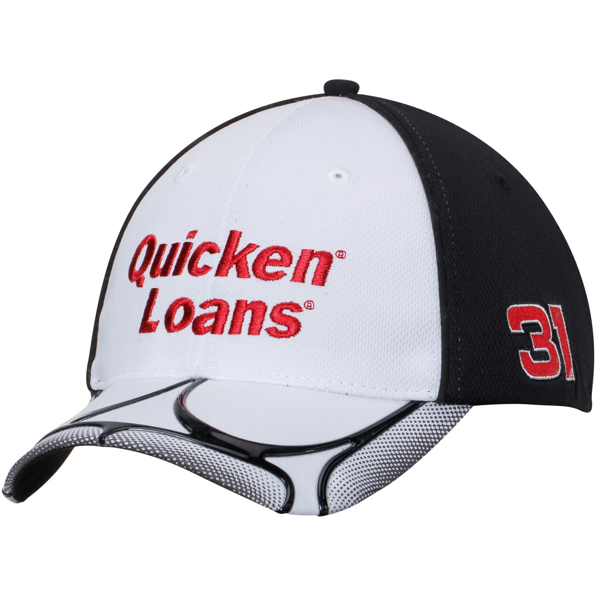 Ryan Newman Chase Authentics Quicken Loans Geo Flex Hat - White/Black - OSFA
