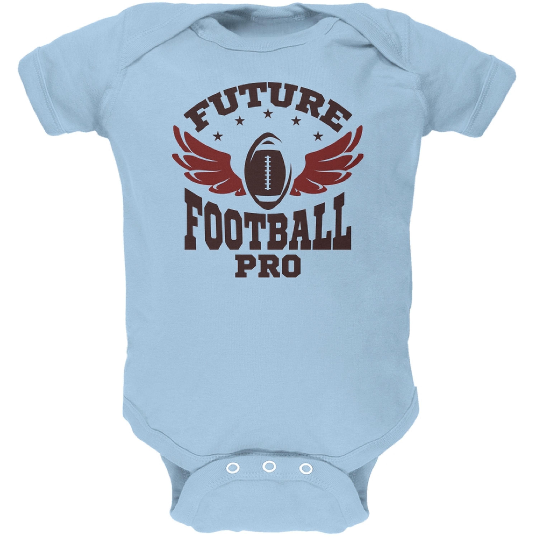 Future Football Pro Light Blue Soft Baby One Piece