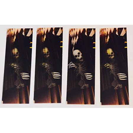 3D Motion Skeleton Set of 4 - Bookmarks and Rulers For Kids - 3d Bookmarks For Kids