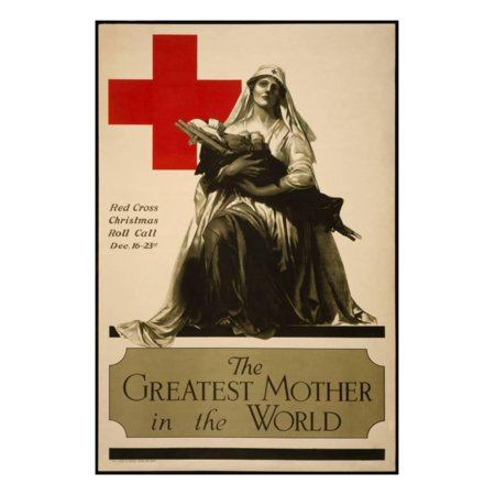 The Greatest Mother in the World, Red Cross Christmas Roll Call Dec. 16-23rd Print Wall Art By Alonze Earl Foringer ()