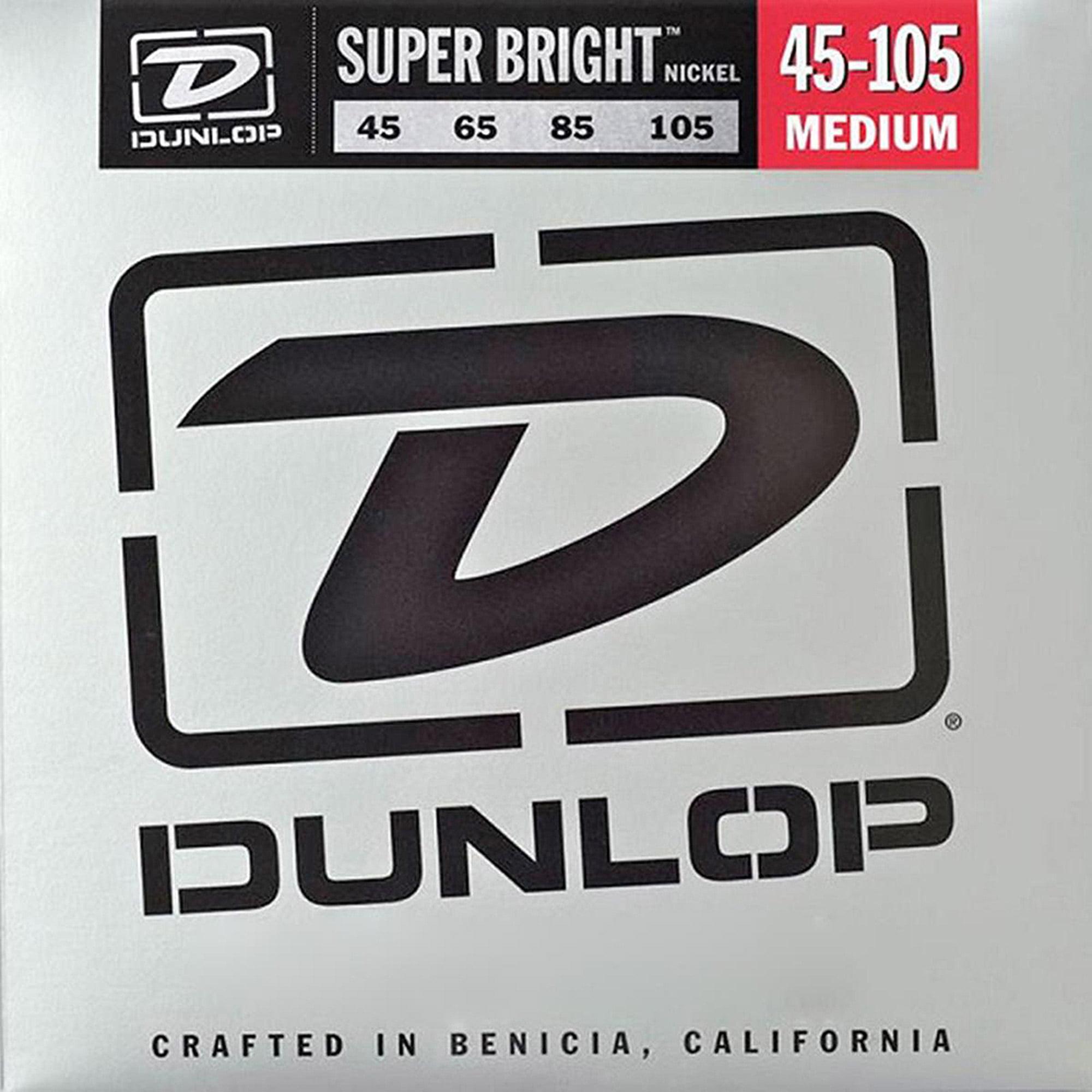 Dunlop - DBSBN45105 - Super Bright Nickel Plated Steel Bass 4 String Set, .45-.105