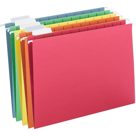 Smead Hanging File Folder, 1/5 Tab, Assorted Colors, Letter Size, (Copy List Of Files To Another Folder)