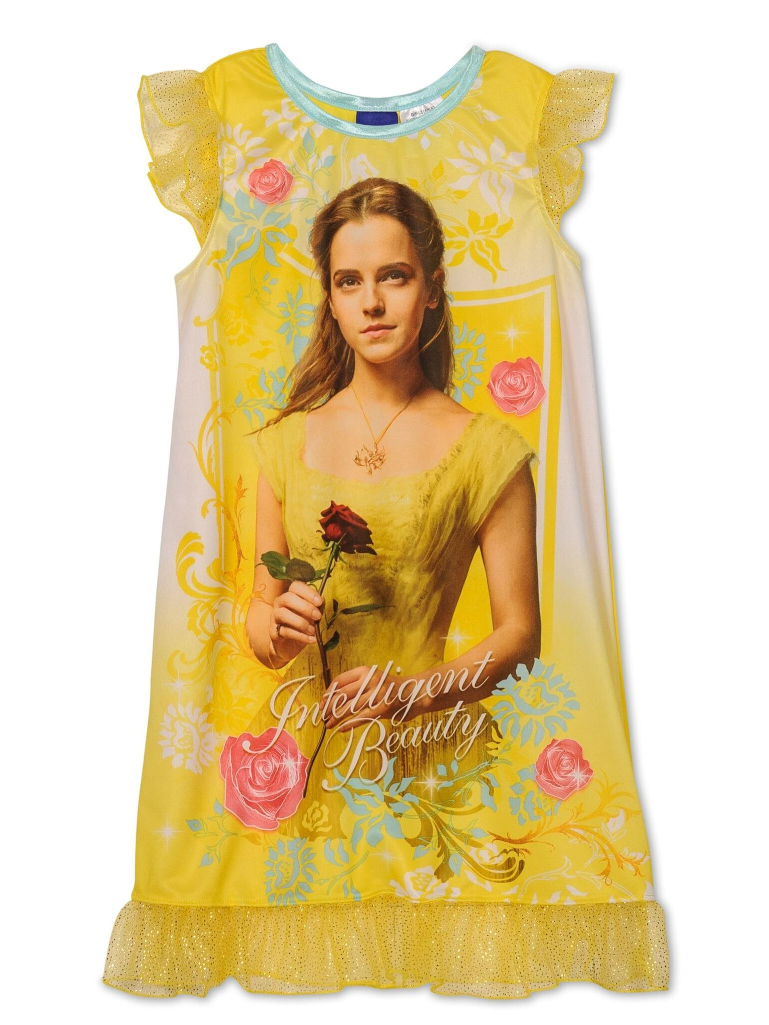 Disney Beauty And The Beast Movie Girls Belle Nightgown Pajamas