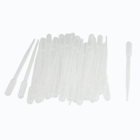 Unique Bargains 50 Pcs Clear White Plastic 5.3