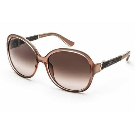 Salvatore Ferragamo SF764/SL 663 Pearl Rose Round Sunglasses Salvatore Ferragamo SF764/SL 663 Pearl Rose Round Sunglasses