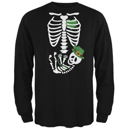 Halloween Irish Baby Skeleton Black Adult Long Sleeve - Tradition Of Halloween In Ireland