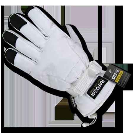 Rapid Dominance T57 Pl Wht 03 Breathable Winter Gloves  44  White   Large
