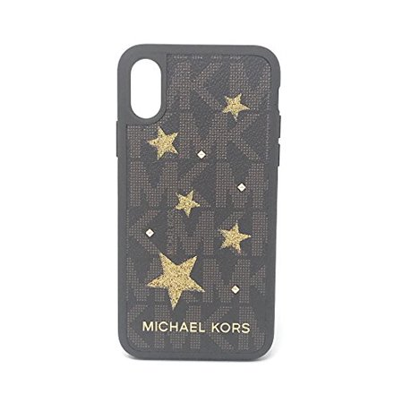 hot sale online aff1d 109d9 Michael Kors Electronic Leather Snap On Case for iPhone X