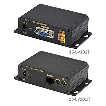 SPT 15-UV101 Active VGA RS232 Over CAT5E/CAT6 Extender Kit (Black)