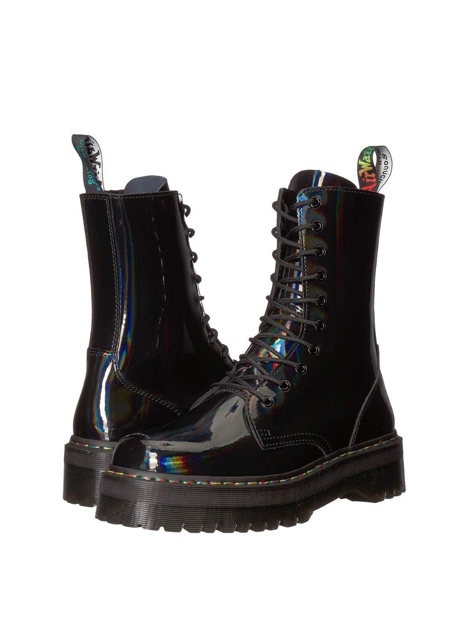 6ab2fc9a2cd Dr. Martens - Dr. Martens Jadon Hi Rainbow Patent Women s Leather Boots  24668001 - Walmart.com