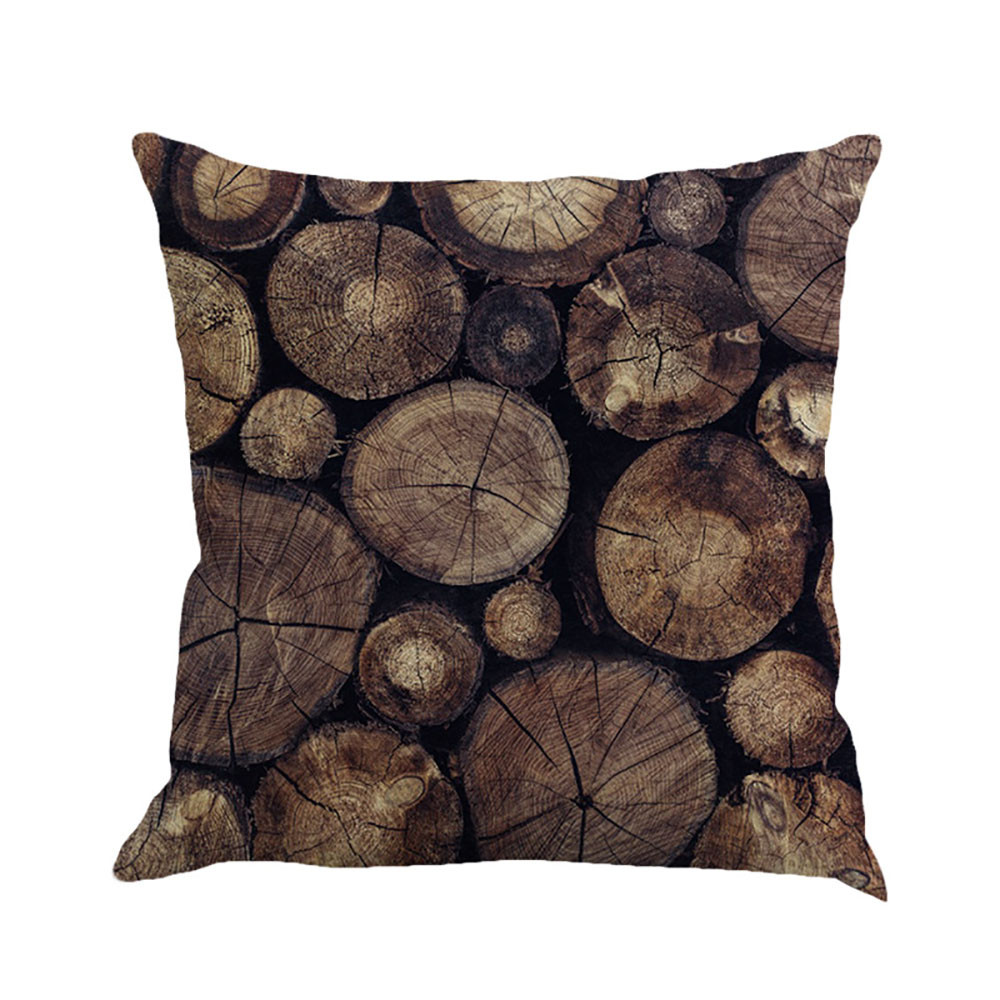 Simple Casual Style Decorative Cushion Cover Cotton Linen