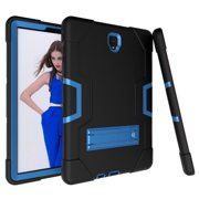 Allytech Samsung Galaxy Tab S4 10.5 2018 Case, [Heavy Duty] Rugged Hybrid Protective Kids Proof Case Cover Build in Kickstand for Samsung Galaxy Tab S4 10.5 inch SM-T830/T835/T837 (Black/Blue)