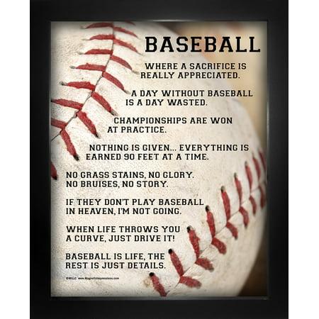 Framed Baseball Player Sayings 8