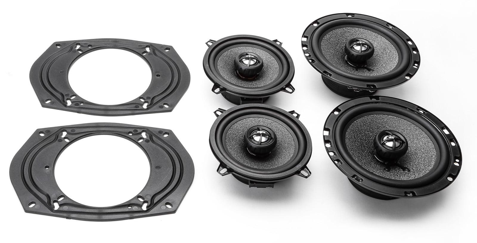 2006-2007 Jeep Commander Complete Front Door & Rear Door Factory Speaker  Upgrade Package by Skar Audio
