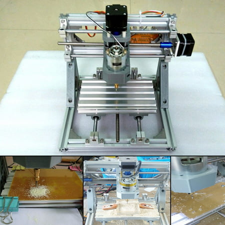 3-Axis Mini CNC Engraver Router PCB PVC Milling Wood Carving Desktop  Machine DIY Set Kit Self-assembly