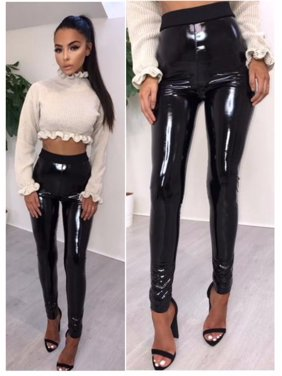 293203ff34a Product Image Women Leather Leggings High Waist Pants Stretchy faux Leather  Leggings