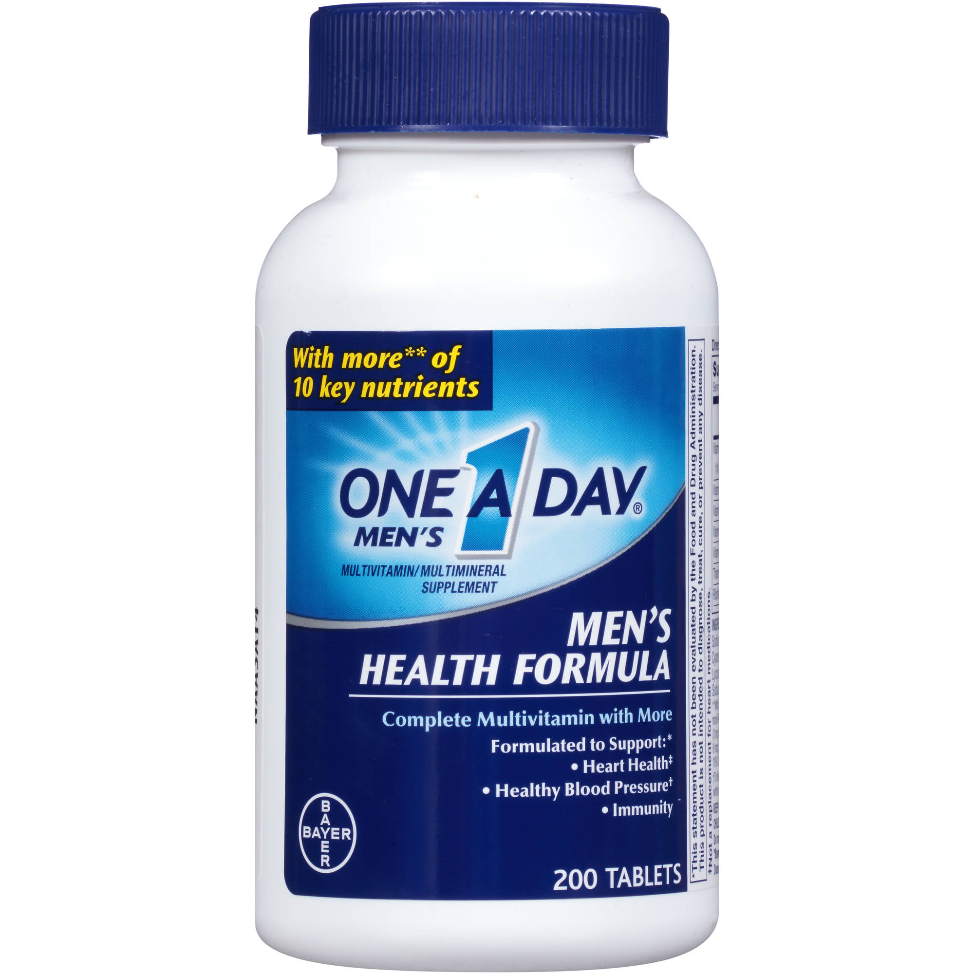One A Day Men's Health Formula Multivitamin/Multimineral Supplement Tablets, 200 count