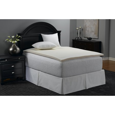 - Mainstays 1.375 inch Memory Foam Combo Mattress Topper,Multiple Sizes