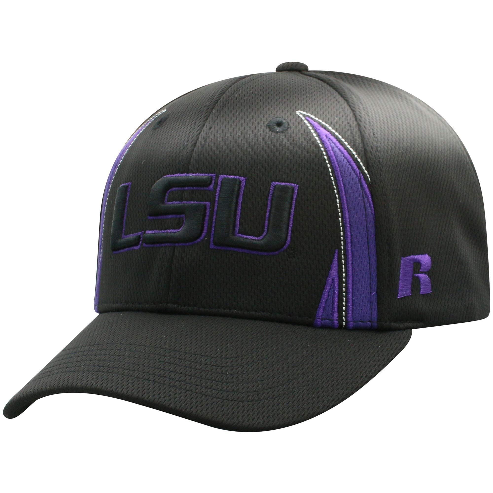 Men's Russell Black LSU Tigers React Adjustable Hat - OSFA