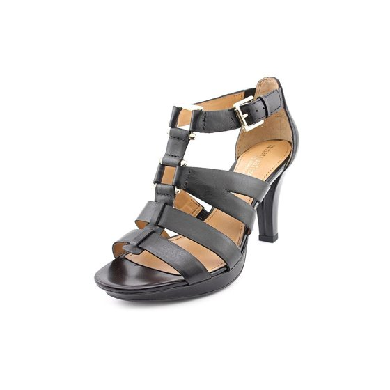 1f67ef87ab54 Naturalizer - Naturalizer Dafny Women Open Toe Leather Black Sandals -  Walmart.com