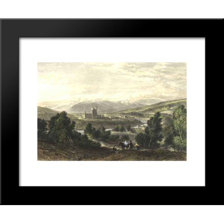 Balmoral Castle  Drawn By Leitch  Engraved By J  Godfrey 20X24 Framed Art Print By William Leighton Leitch