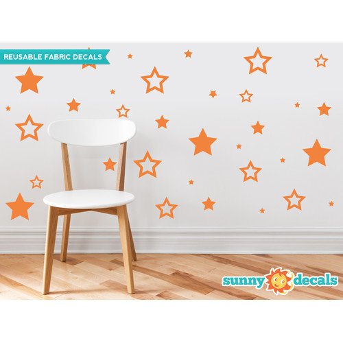 Sunny Decals Stars Fabric Wall Decal