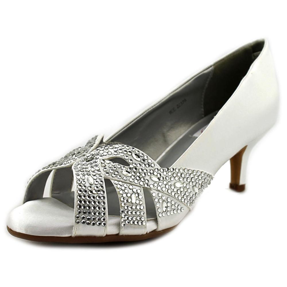 Dyeables Tracy Women US 9 2E White Peep Toe Heels