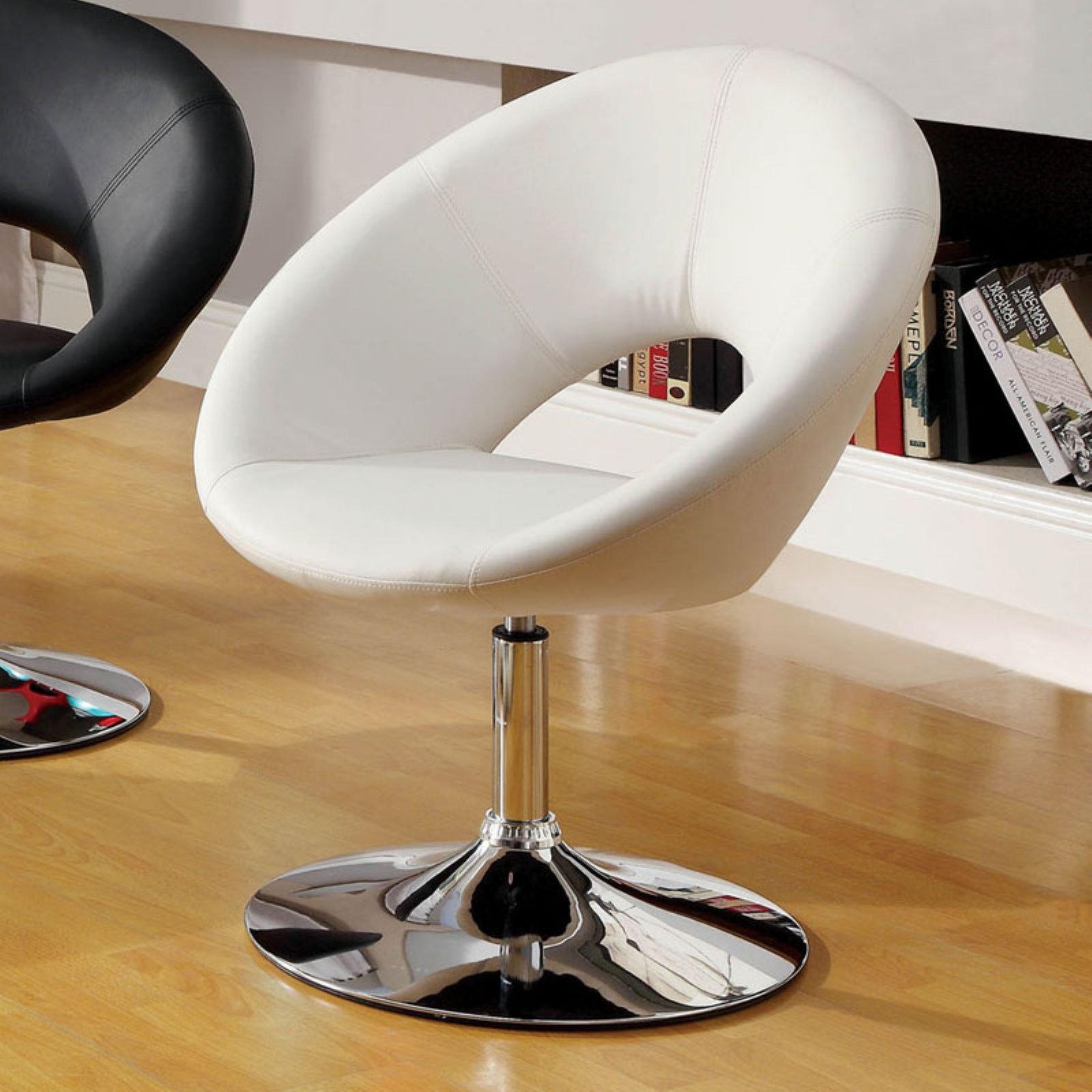 Furniture of America Grandale Padded Leatherette Swivel Chair