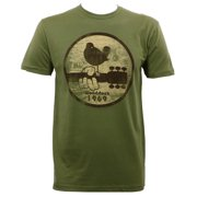 Woodstock - Mens 1969 Fitted T-Shirt Green