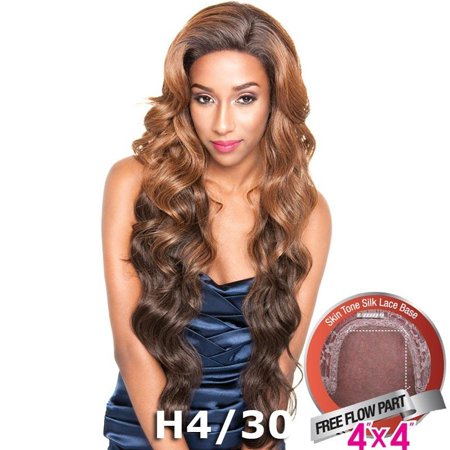 Brown Sugar Human Hair Blend Silk Lace Wig - BS610 (Silk Top Lace Wig With Hidden Knots)