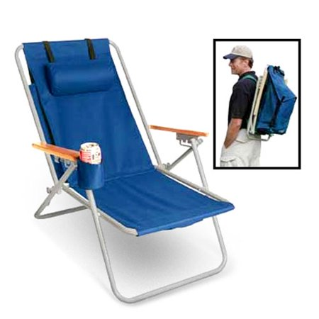 Rio WearEver Steel Hi-Back Backpack Beach Chair