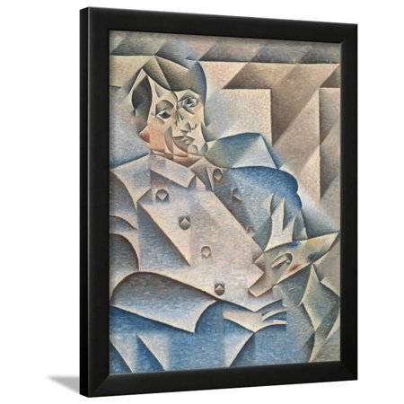 Portrait of Pablo Picasso by Juan Gris Framed Print Wall Art ...