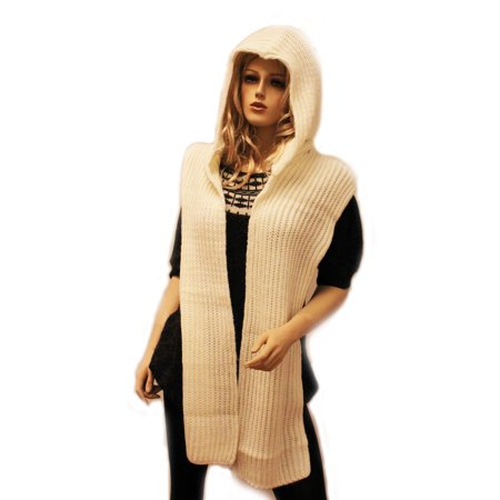 City Hunter H310 6 Ways to wear Hood Scarf Version 2 (Ivory White)