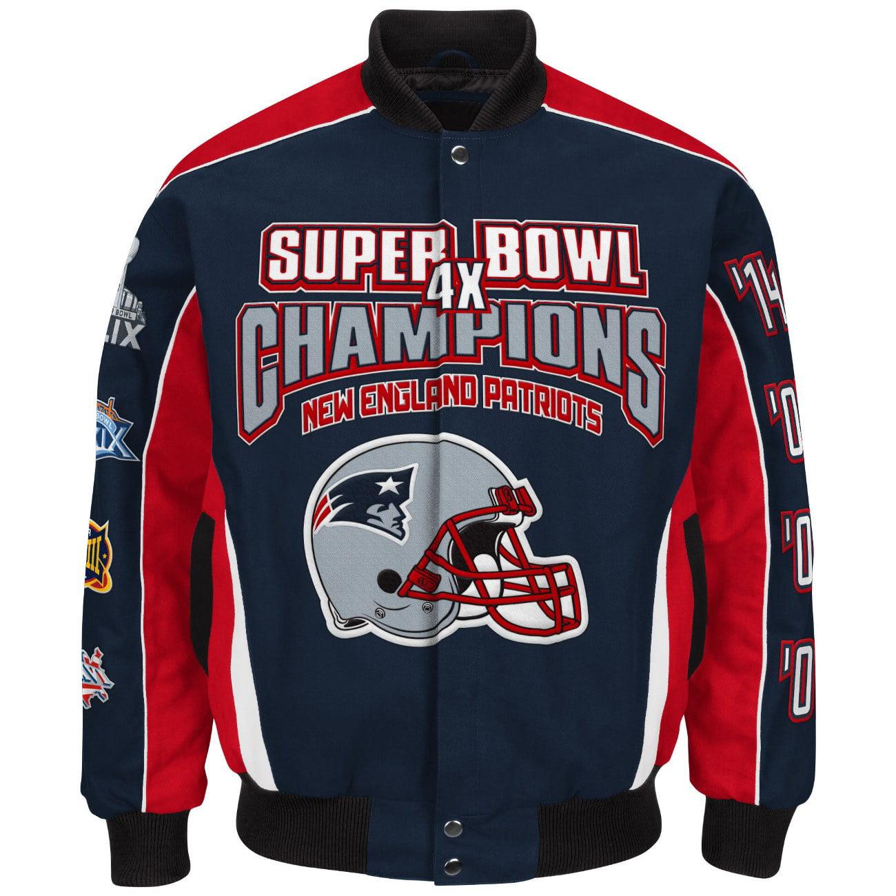 New England Patriots NFL G-III Super Bowl Cotton Twill Commemorative Jacket