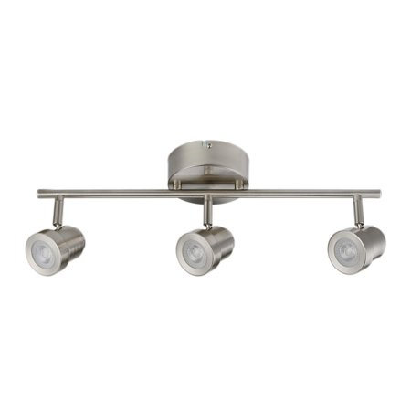 Globe Electric Hunter 3 Light Brushed Nickel Integrated Led Track Lighting Kit 59020