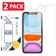 [2-PACK] TTECH For Apple iPhone XR / 11 Tempered Glass Screen Protector Film Cover, Anti-Scratch, Anti-Fingerprint, Bubble Free, 100% Clear, HD, In Retail Package [fits iPhone XR / iPhone 11]