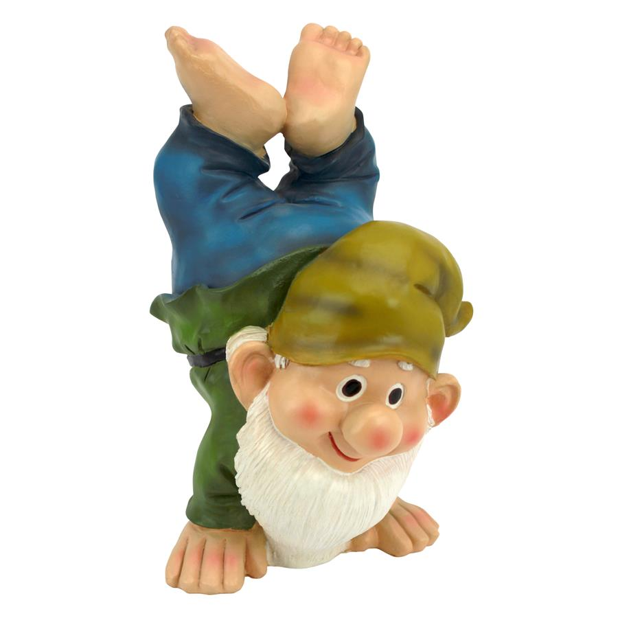 Handstand Henry the Garden Gnome Statue by Designt Toscano