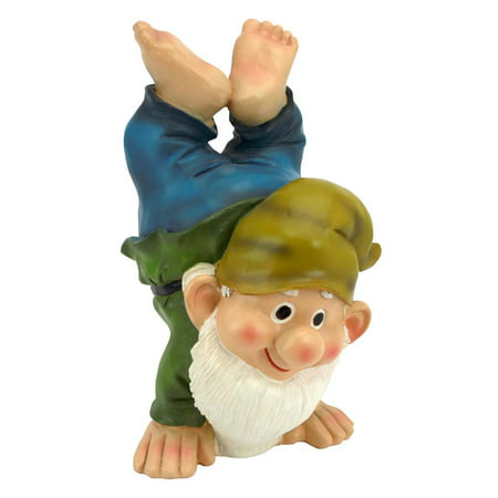 Design Toscano Handstand Henry the Garden Gnome Statue Statues In Florence